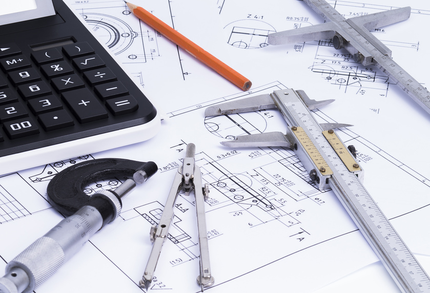 CAD tools on a construction plan